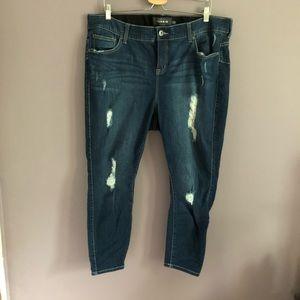 Torrid Distressed Bombshell Skinny Jeans 20 XS